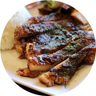 鶏もも肉のスパイス焼きプレート